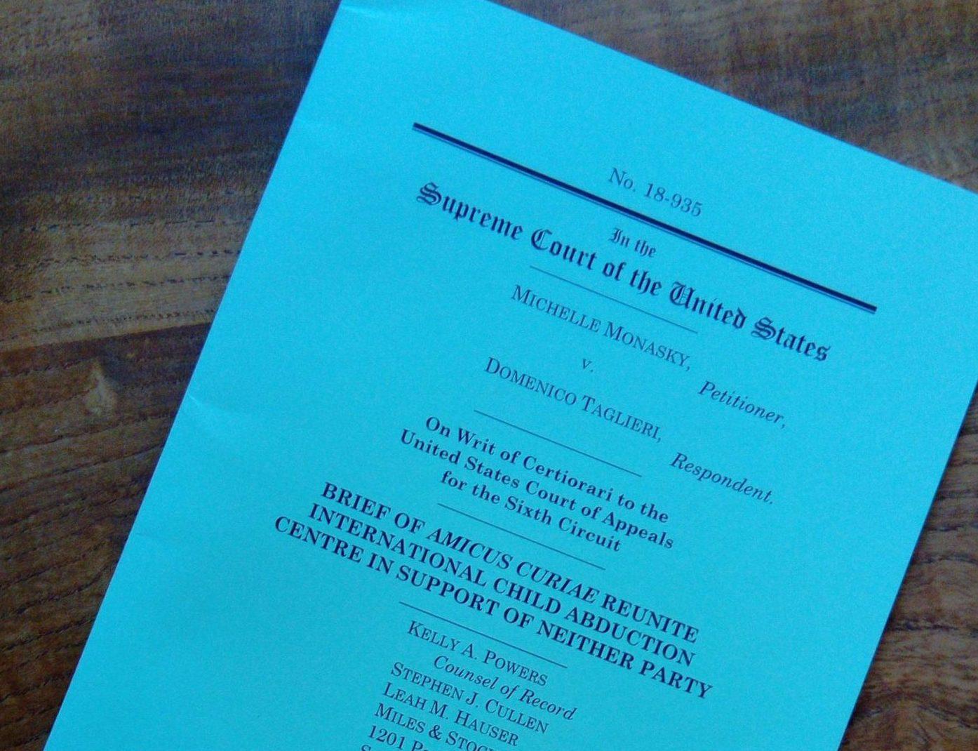 US Supreme Court Decision in Monasky v Taglieri